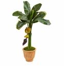 3� Banana Artificial Tree in Terracotta Planter -