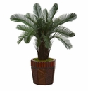 3� Cycas Artificial Tree in Bamboo Planter -