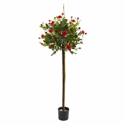 3' Rose Topiary Silk Tree