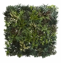 3� x 3� Greens & Fern Artificial Living Wall UV Resist (Indoor/Outdoor) -