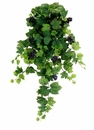"30"" Artificial Grape Leaf Hanging Bush - Set of 6"