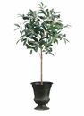 "30"" Artificial Olive Topiary Plants in Tin Urn - Set of 2"