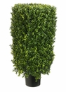"30"" Rectangular Artificial Boxwood Topiary Plant in Pot"