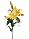 "35"" Real Touch Silk Casablanca Lily Spray w/2 Flowers & 1 Bud"