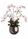 "36"" Artificial Phalaenopsis Orchid Flower Arrangement in Ceramic Vase"