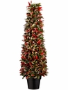 """36"""" Artificial Plastic Italian Bay Leaf Cone Topiary with 2120 Leaves in Pot"""