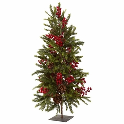 "36"" Pine & Berry Christmas Tree"