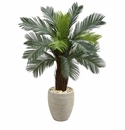 4.5� Cycas Artificial Tree in Oval Planter UV Resistant (Indoor/Outdoor) -