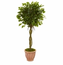 4.5� Ficus Artificial Tree in Terracotta Planter UV Resistant (Indoor/Outdoor) -