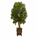 4.5� Fiddle Leaf Artificial Tree in Decorative Planter  -