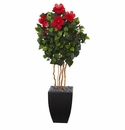 4.5� Hibiscus Artificial Tree in Black Washed Planter