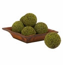 "4"" Green Berry Balls (Set of 6)"