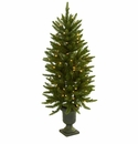 4' Christmas Tree w/Urn & Clear Lights