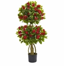 4� Double Bougainvillea Artificial Topiary Tree
