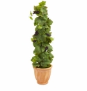 4� Grape Leaf Artificial Plant in Terracotta Planter -