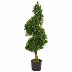 4' Spiral Boxwood Artificial Tree UV Resistant (Indoor/Outdoor)