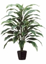 "40"" Artificial Cordyline Plant in Black Round Plastic Pot - Set of 4 (shown in green/white)"