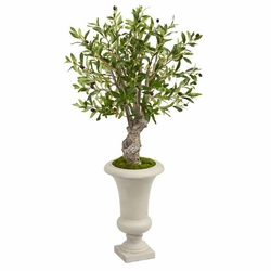 """40"""" Olive Artificial Tree in Urn Floor Plant"""