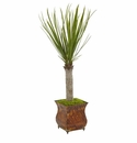 40� Yucca Artificial Tree in Metal Planter -