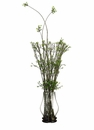 """42"""" Artificial Montana Leaf and Twig Arrangement in Glass Container"""