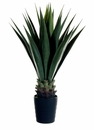 "42"" Artificial Sisal Plant in Black Plastic Pot - Set of 2"