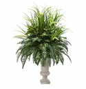 42� Mixed Greens Artificial Plant in Urn -