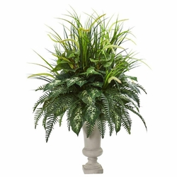 "42"" Mixed Greens Artificial Plant in Urn -"