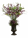 "44"" Artificial Allium/Lilac/ Lily/Oncidium Orchid Arrangement in Urn"