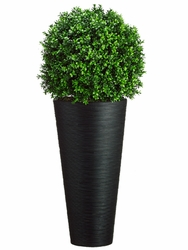 "44"" Artificial Boxwood Ball in Bamboo Planter"