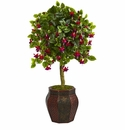 44� Fuschia Artificial Tree in Decorative Planter -