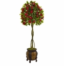5.5� Bougainvillea Topiary Artificial Tree in Decorative Planter -