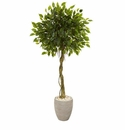5.5� Ficus Artificial Tree in Oval Planter UV Resistant (Indoor/Outdoor) -