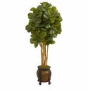 5.5� Fiddle Leaf Artificial Tree in Decorative Planter  -