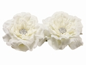 "5.5"" Silk Floating Peony Head Flowerwith Rhinestone (2 ea. in acetate Box) - 6 Boxes"