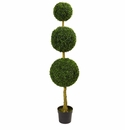 5.5� Triple Ball Boxwood Artificial Topiary Tree UV Resistant (Indoor/Outdoor)