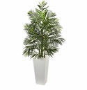 5� Areca Artificial Palm Tree in White Planter UV Resistant (Indoor/Outdoor)