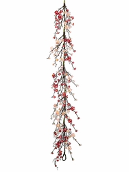 5' Artificial Cherry Blossom Garland - Set of 4