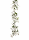 5' Artificial Dogwood Flower & Pussy Willow Garland - Set of 2