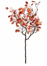 5' Artificial Lunaria Tree Branch - Set of 2
