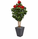 5� Hibiscus Artificial Tree in Slate Planter -