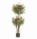 5' Mini Rose Silk Tree