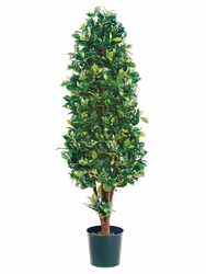 5' Silk Ficus Cone Shaped Artificial Topiary Tree