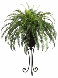 "57"" Fishtail Fern Artificial Plant in Metal Planter"