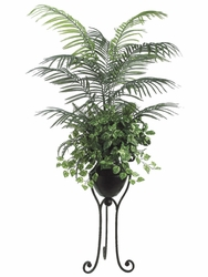 6.5 ft  Silk Areca Palm / Pothos / Fern With Stand