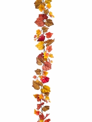 6' Artificial Grape Leaf Garland Stand - Set of 6