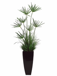 6' Artificial Mixed Cypress and Grass Bush Arrangement in Decorative Container