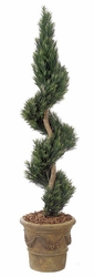 6' Artificial Podocarpus Spiral Outdoor UV Protected Topiary Plant