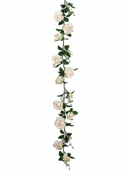 6' Artificial Silk Rose Garland Strand - Set of 6