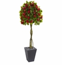 6� Bougainvillea Artificial Tree in Slate Planter -
