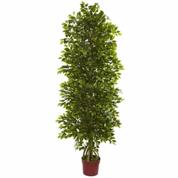6' Four Tier Mini Ficus Artificial Tree UV Resistant (Indoor/Outdoor)